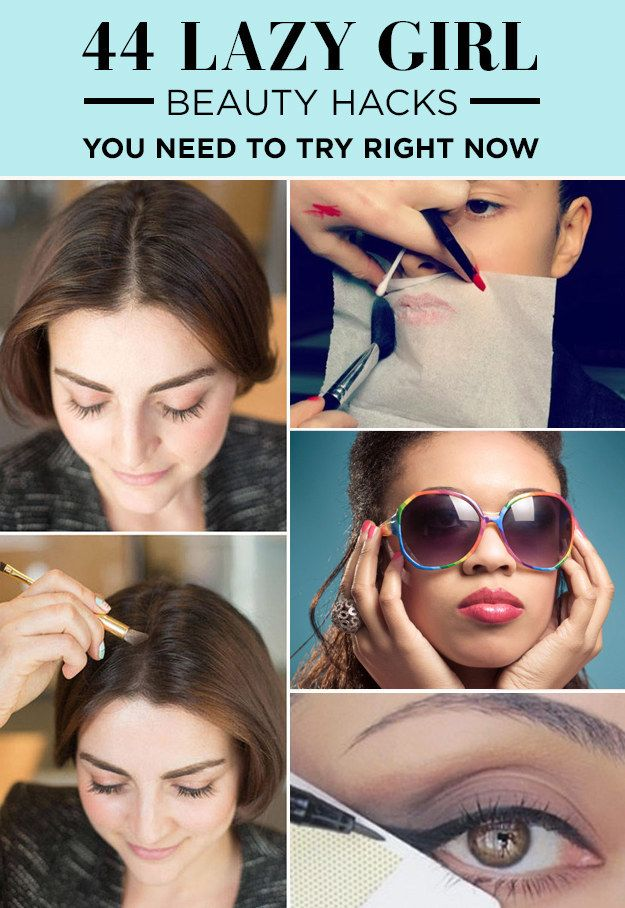 44 Lazy Girl Beauty Hacks To Try Right Now - So pretty, so easy. Inspired by our collaboration with Birchbox!: 44 Lazy, Make Up, Beauty Tips, Beauty Hacks, Makeup Beauty Hack, Makeup Hack, Lazy Girl, Girl Hack