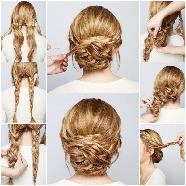 How to DIY Chic Braided Chignon Hairstyle | www.FabArtDIY.com LIKE Us on Facebook ==> https://www.facebook.com/FabArtDIY: Braided Updo, Braided Buns, Hairstyles, Hair Styles, Updos, Hair Updo
