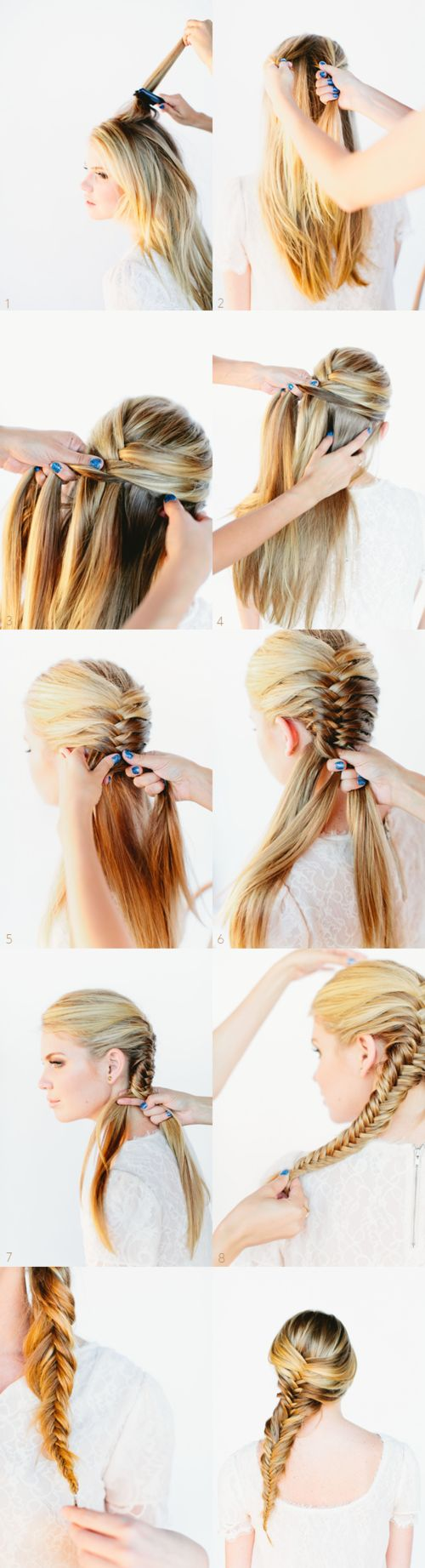 Long hair styles Get the look today at Silvana's Day Spa & Salon 102 East Main Street Forestville, CT 06010 860-589-7249 #hair #weddinghair #wedding: Fish Tail, Hairstyles, Hair Styles, Hair Tutorial, French Fishtail Braid, Fishtail Braids