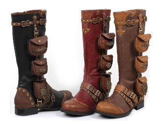 Ladies Steampunk Gypsy Boho Boots 6-11: Knee High, Shoes, Steampunk Boots, Pocket, Ladies Steampunk, Gypsy Boho, Steampunk Gypsy, Boho Boots