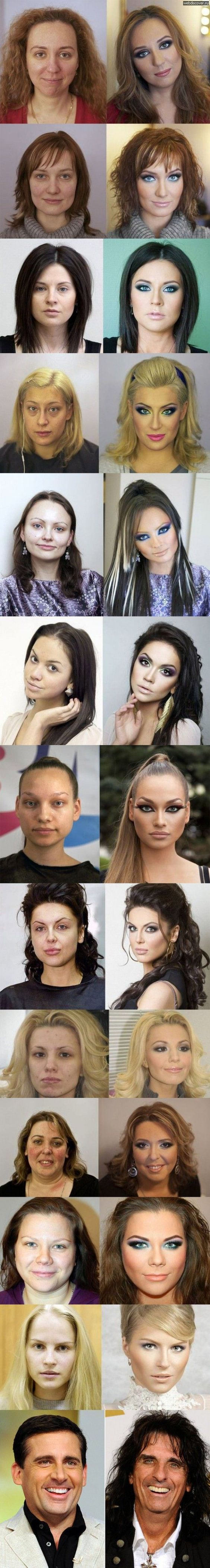Makeup Before And After. The Transformations Are Insane, Especially The Last One...: Make Up, Power Of Makeup, Funny Pictures, Funny Stuff, Funnies, Beauty, Hair