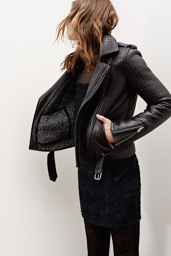 A black leather jacket never goes out of #style / the love assembly