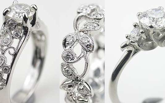 Radiant Cut Diamond Engagement Ring  A classic mounting creates the perfect setting for a GIA certified 1.14 carat radiant cut diamond in this antique style engagement ring.