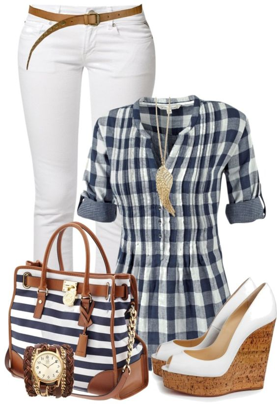 Bring on the stripes! Navy is the new black.