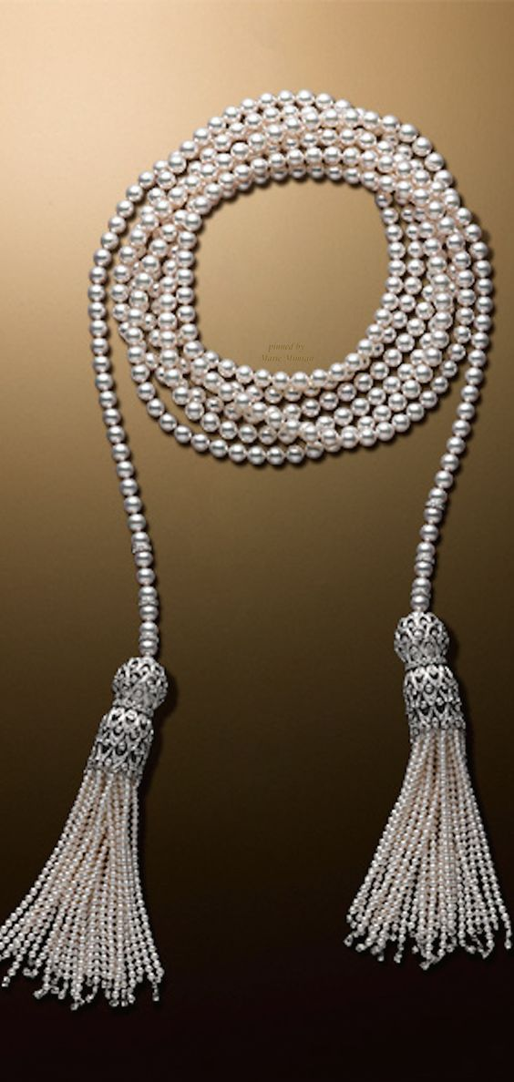 Skipping Rope-Necklace-(約3m25cm)¥30,000,000- mikimoto Tokyo marie mimran-