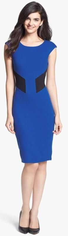 dress the boyish figure:  You'll look best in a sheath dress which shows off your trim figure