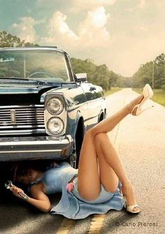 Just a classy lady, who knows a thing or two about cars! :: Pin Up Girls:: Modern Day Pin Up:: Hot Rods and Pin Ups:: Vintage Lifestyle