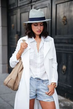 White trend on white button up? Yes please.