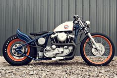 4 inches lower and longer. Harley ironhead