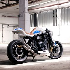 Suzuki enters the custom game—with a little help from legendary Katana designer Hans A. Muth. This heavily modified Bandit 1250 is nicknamed 'FatMile' and it's going to be unveiled at the Glemseck 101 cafe racer festival in Germany. Would you