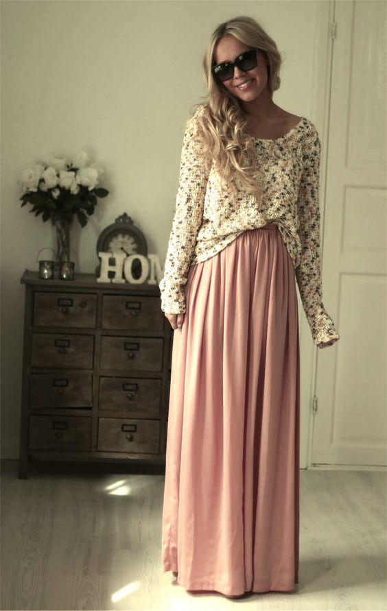 Another transition helper - taking summer maxi skirts into fall, I love these & will be posting more!