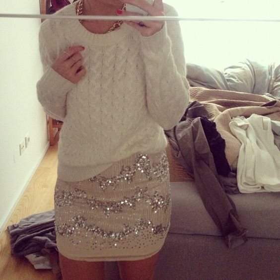 Cozy knits and sparkles, there is literally never an inappropriate occasion for sparkle..