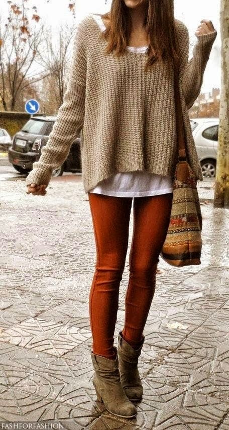 Fall Outfit With Oversized Cardigan and Tights #fall #outfit