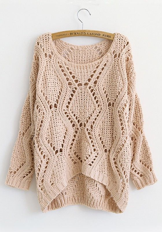 ++ pink plain round neck long sleeve sweater
