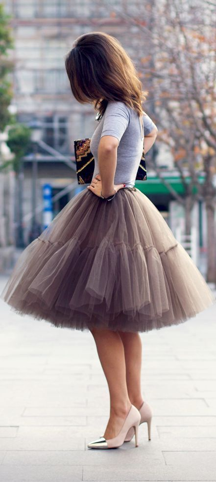50 Awesome Looks with Tulle Skirt. It is so beyond the point of me needing a tulle skirt. I must have one!!
