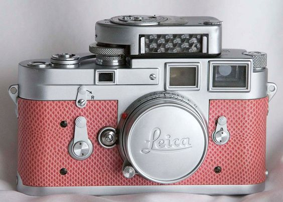 be jealous of paul cuthbert, who owns this Leica with paradise pink snake skin detail from 1956 – the only camera of its kind in the world.