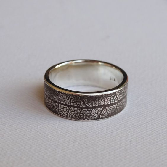 Hey, I found this really awesome Etsy listing at https://www.etsy.com/listing/227612704/sale-silver-leaf-ring-mens-wedding-band