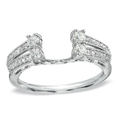 1/2 CT. T.W. Diamond Solitaire Enhancer from Zales ... Omg I love it