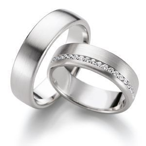 His and hers matching wedding bands! Simple but beautiful.