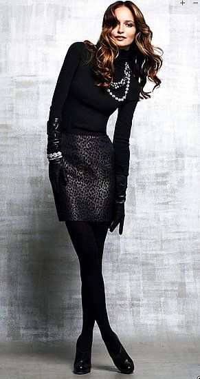 I am DEF doing this with my black turtleneck, dark snake print skirt, gotta get some black tights though! I love this all black ensemble--down to the black gloves!!!: Fashion, Black Outfits, Style, Dress, Fall Winter, All Black Everything