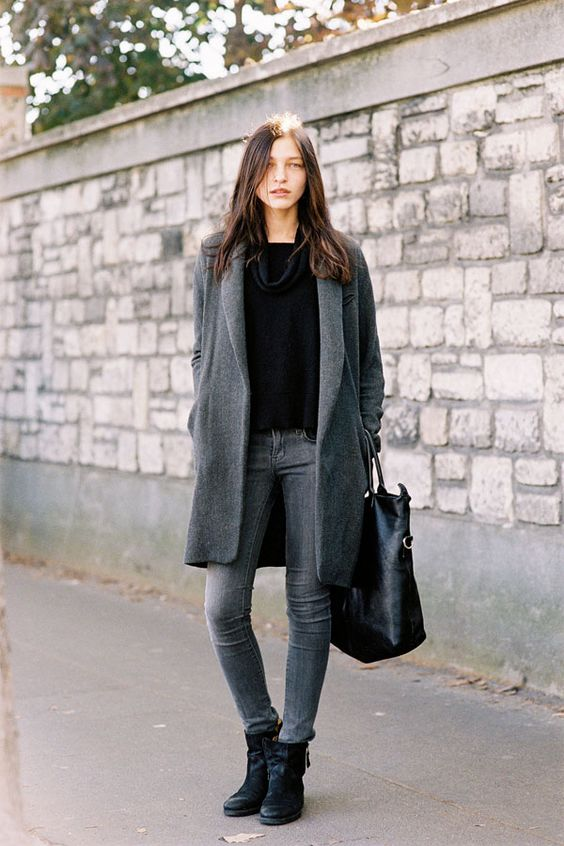 Stormy grey and black separates  make for a bangin' outfit that I would totally wear to PFW. If invited, natch.