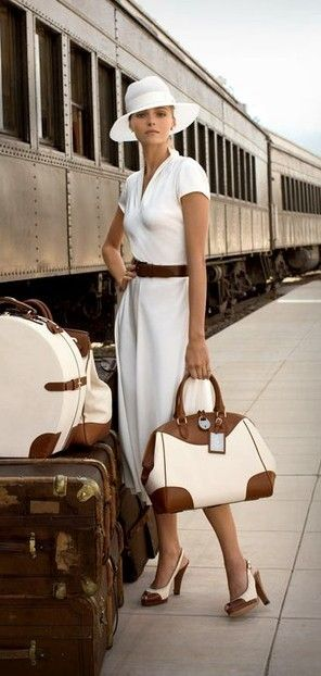 The sophisticated pairing of soft white with luggage leather is something that is classic, yet versatile. #pinmyencore