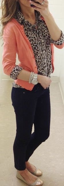 coral, leopard and black.