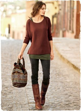 Such a cute outfit! Great colors!... and boots? of course!