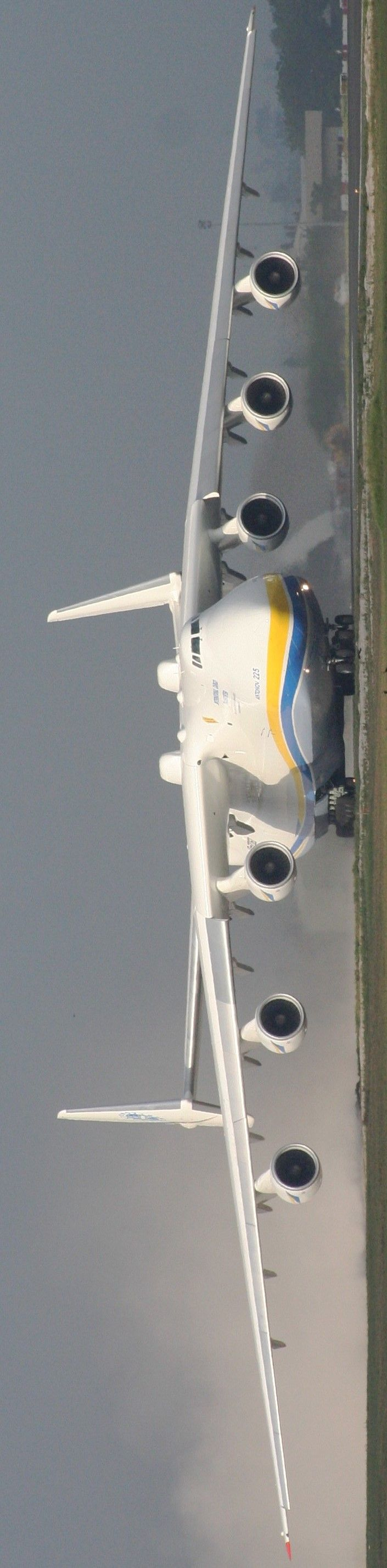Ukrainian Antonov a massive monster, It is powered by six turbofan engines and is the largest airplane in the world; it is the heaviest aircraft with a maximum takeoff weight of 640 tonnes: Airplanes Jets, Engine, Jets Planes Aircraft, Aircraft, Airplanes