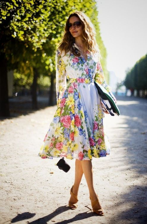 LoLoBu - Live Your Style.: Floral Prints, Fashion, Street Style, Outfit, Floral Dresses