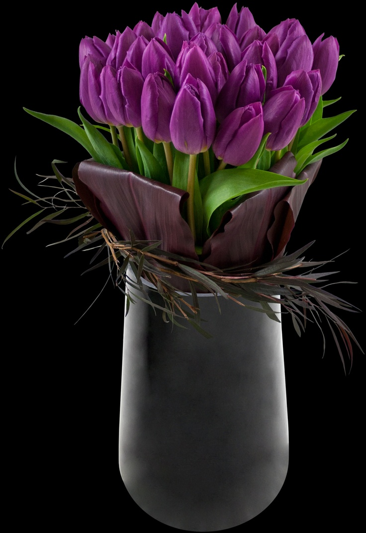 Purple tulip arrangement: Idea, Google, Floral Design, Color, Purple Tulips, Floral Arrangement, Flowers, Valentine