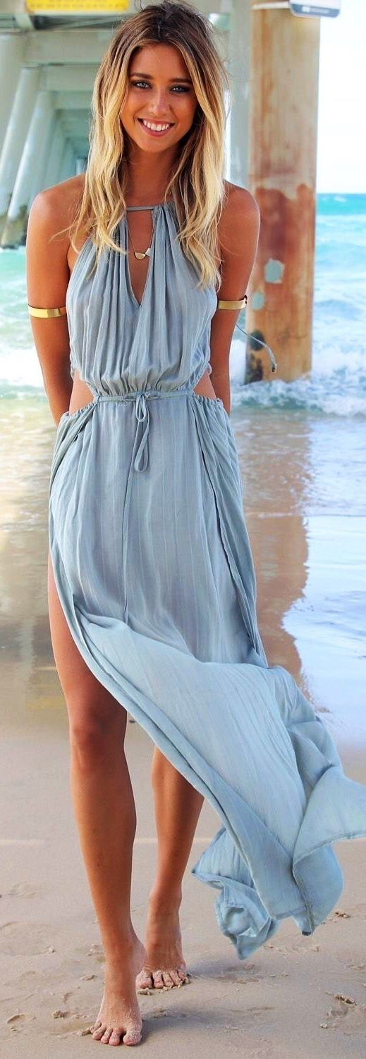 34 Adorable Summer Dresses to Slip into This Summer ...: Beach Dresses, Maxi Dresses, Summer Fashion, Summer Dresses, Summer Style, Spring Summer, Outfit, Maxidress