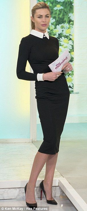 Abbey Clancey on This Morning - ultimately too skinny but chic ensemble.: Conservative Dress, Chic Work Outfit, Conservative Outfit, Work Outfits, Chic Dress
