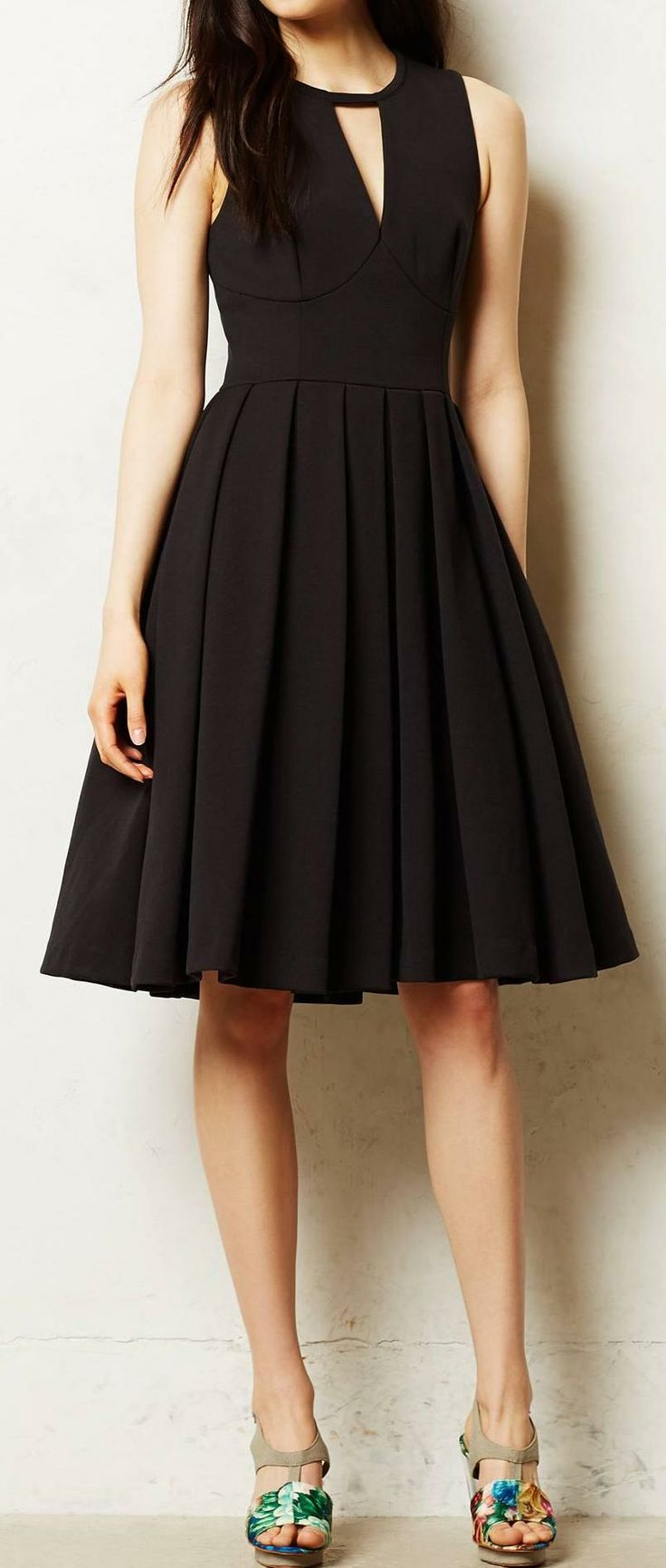 Anthropologie Little Black Dress ♡ #lbd: Black Style, Black Pleated, Awesome Shoes, Classic Lbd, Anthropologie Lilou, Little Black Dresses, Little Black Dress Classic, Black Love, Classic Little Black Dress