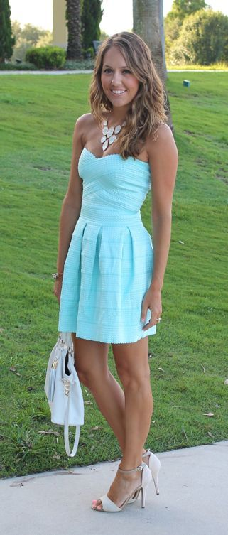love this color, not a huge fan of the shoes though....oh well i could find another pair to match!: Summer Dress, Fashion, Style, Dream Closet, Dresses