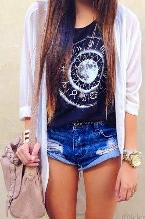 Rolled denim: Short, Fashion, Summeroutfit, Style, Dream Closet, Clothes, Spring Summer, Summer Outfits, Shirt