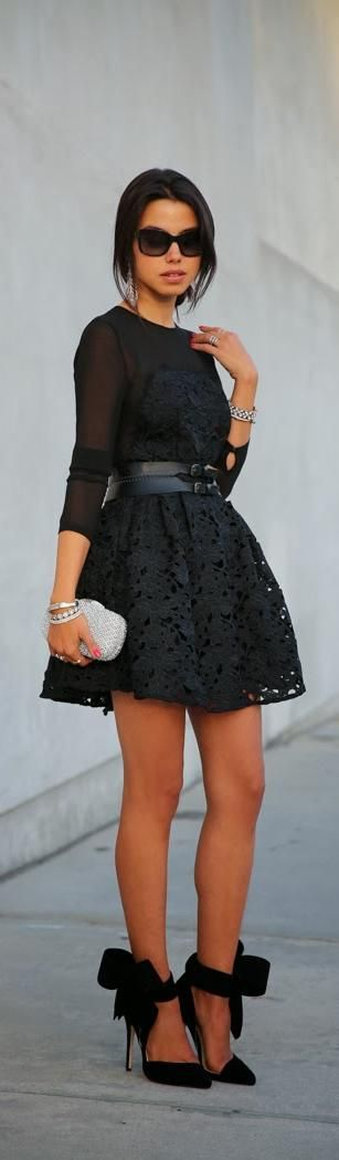 This Pin was discovered by Digital Filing Cabinet. Discover (and save!) your own Pins on Pinterest.: Fashion, Style, Dresses, Outfit, Black Laces, Black Lace Dress, Black Dress