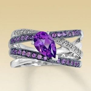 Fashion*Jewellery*Modern | Rosamaria G Frangini || Amethyst and Diamond Ring: Purple Diamond Ring, Diamond Rings, Diamonds, Purple Passion, Color Purple, Things Purple, Engagement Ring, Bling Bling