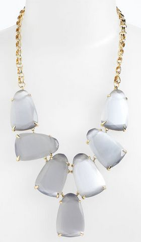 Gorgeous gray statement necklace