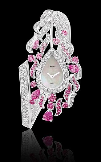 RosamariaGFrangini | Jewellery Watches |Chanel Watch in 18K White Gold, Pink Sapphires and Diamonds | MM&Co.