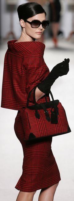 Classic & LOVE it!: Vassiliszoulias, Red Fashion, Fashion Style, Classic Red, Red Plaid, Work Outfit