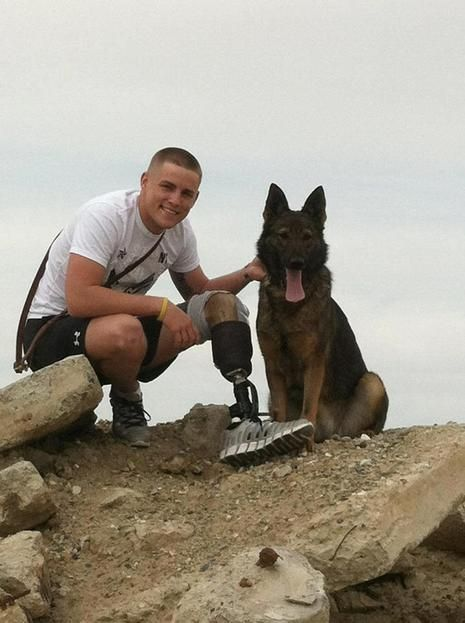 When Lance Cpl. Jeremy Vanhoose served over in Afghanistan with his German Shepherd Imi, the pair detected bombs. Vanhoose joined the Marines shortly after high school, leaving behind his childhood sweetheart and fiance Kacy and his family. He trained and