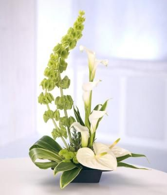 modern hotel flower arrangements images | arrangement really makes a statement. Cool contemporary white flowers ...: Google Image, White Flowers, Modern Floral Arrangements, Funeral Flowers, Modern Flower Arrangements, Flower Arrangements, White Floral Ar