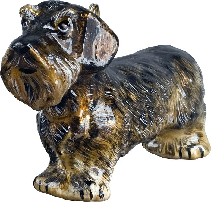 The Pet Set Wire Haired Dachshund Glass Christmas Ornament - Handcrafted in Europe by Joy to the World Collectibles: Collectibles Wire, Glass Christmas Ornaments, Hair Dachshund, Wire Haired Dachshund, Set Wire, Dachshund Glass