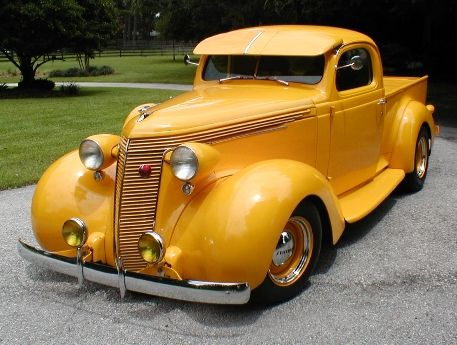 37 Studebaker Pick-up...not much to say about the color but that's a nice truck...Brought to you by House of Insurance Eugene, Oregon 97401 Your home for car Insurance in Or.
