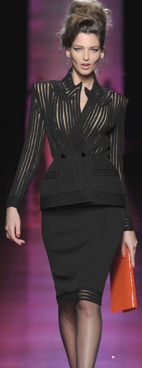 Jean Paul Gaultier: Jean Paul Gaultier, Suite S, Black Fashion, Black Suits, Skirt Suit, Gaultier Fashion, Fashion Suits