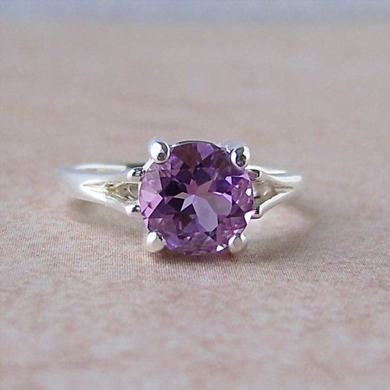 Amethyst. My absolute favorite stone. This one is beautiful! $74.00