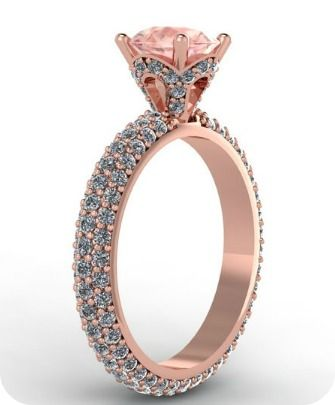 Rose Gold & Diamonds Wedding Ring - Fabian Diamonds. A ring for a princess :)
