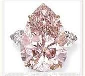 The Pink Sunrise is a fancy pink, diamond, with a design similar to the Centenary Diamond (heart shape) modified by famed diamond cutter Gabi Tolkowsky and his team (who also the cutter of the largest diamond in the world, the Golden Jubilee Diamond)..The