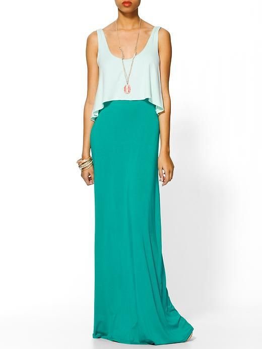 dress that looks like a maxi skirt and top!: Teal Maxi Skirt, Maxi Dresses, Spring Dresses, Summer Dress, Cute Dresses, Honey Double, Maxi Skirts, Honey Maxi